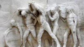 """Monument au Travail - fresque """"Le port"""""""