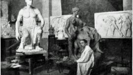 Constantin Meunier dans son atelier