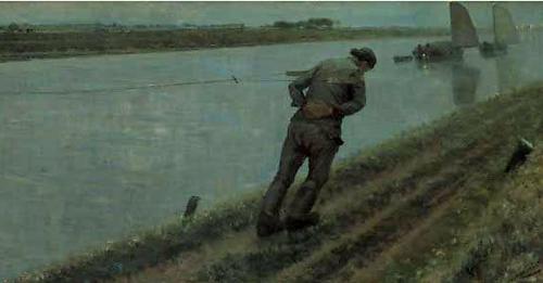 Théodore Verstraete - Le Haleur