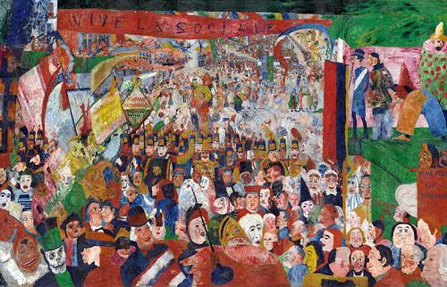 James Ensor - L'Entrée du Christ à Bruxelles en 1889