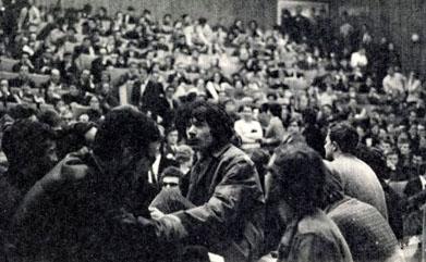 Meeting à l'Université de Gand - mars 1969