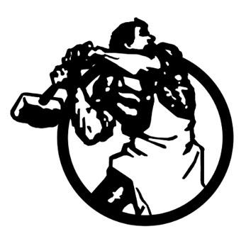 Le symbole employé par l'Internationale Communiste pour sa revue : un ouvrier brisant des chaînes enserrant la planète