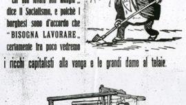 Propagande du Parti Socialiste italien pour les élections de 1919