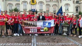 Tom Van Grieken, Président du Vlaams Belang durant l'université d'été 2019 à Cracovie
