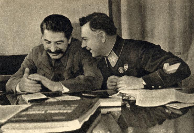 Staline et Kliment Vorochilov, 1935