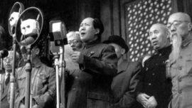 La proclamation de la République populaire de Chine, en 1949 à Pékin