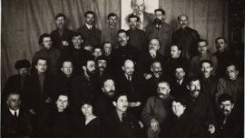 Lénine au second congrès de l'Internationale Communiste