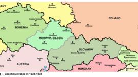 La Bohème, la Moravie et la Silésie, la Slovaquie et l'Ukraine carpathique tout à l'Est