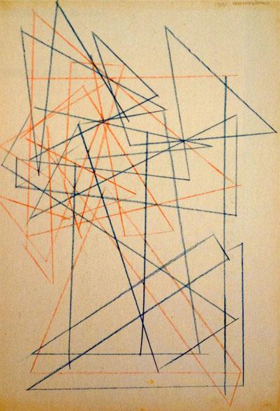 Alexandre Rodtchenko, Etudes pour une construction, 1921