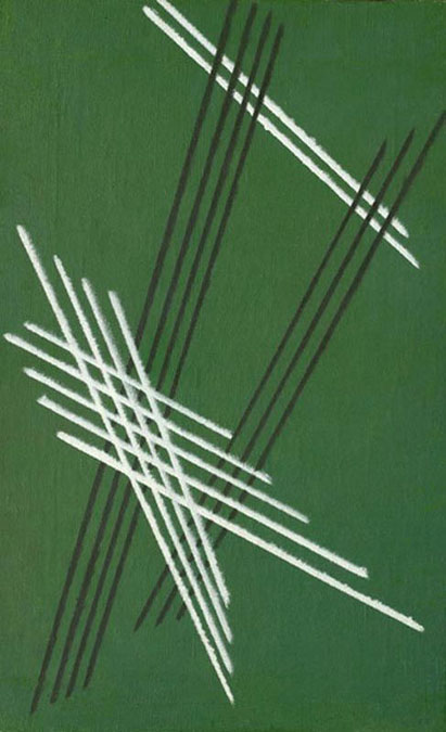 Alexandre Rodtchenko, Lignes sur une base verte n°92, 1919