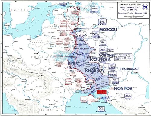 L'offensive soviétique de juillet à décembre 1943
