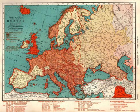 L'Europe sous occupation des forces de l'Axe juste avant l'opération Barbarossa