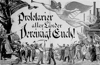 Prolétaires de tous les pays, unissez-vous ! Gravure de 1896 par Otto Marcus