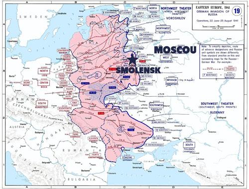 La situation en juin-août 1941