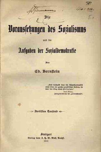 Les conditions requises pour le socialisme et les tâches de la social-démocratie, édition de 1906