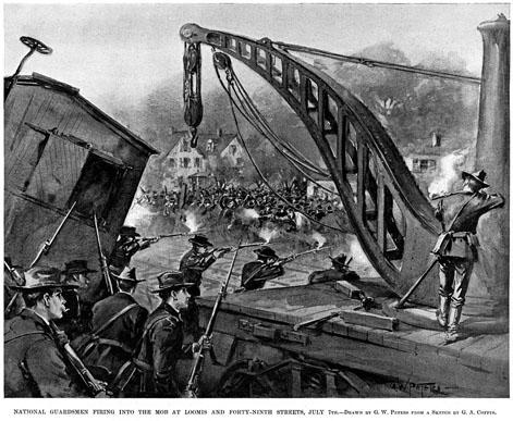La garde nationale tire sur les grévistes de la Pullman Company en 1894