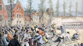 Une grève réprimée à Mons montrée dans Le petit journal parisien en 1893