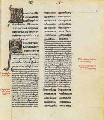 Averroès, version en latin du Grand Commentaire du De anima d'Aristote, milieu-fin du XIIIe siècle