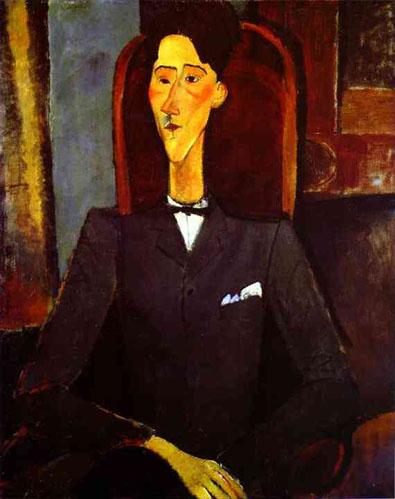 Portrait du dramaturge contemporain Jean Cocteau par Amadeo Modigliani, 1916