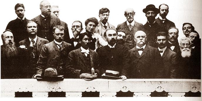 Les principaux dirigeants de la seconde Internationale en 1904