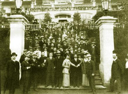 Les délégués au huitième congrès