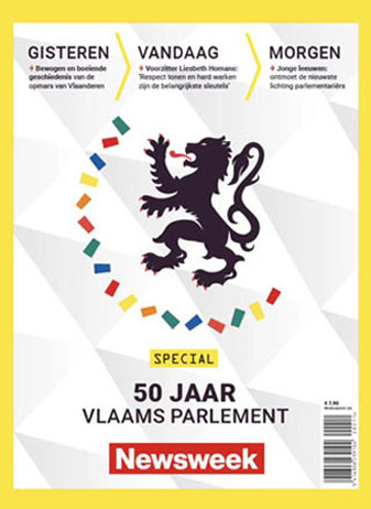 """Edition spéciale """"50 ans de Parlement flamand"""" du magazine Newsweek België"""